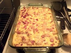 KETO chicken cordon bleu casserole [The fiance' really enjoyed this. Probably one of his favorites. Me, not so much. Too creamy I think - Jess]