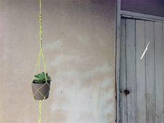 Flower hanger - Plant hanger - Neon yellow - jute - Macrame | Chompa Handmade | madeit.com.au