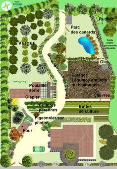 Garden Design Plans - New ideas Permaculture Design, Farm Layout, Potager Bio, Farm Plans, Garden Design Plans, Earthship, Farm Gardens, Garden Planning, Amazing Gardens