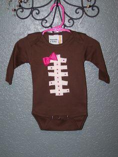 girly football onsie - Use Team ribbon???