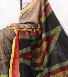 Buy Tussar -  Multicolor Self Woven silk saree hand-woven-saree online