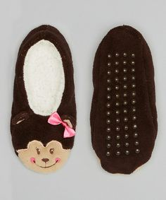 Take a look at this Brown Monkey Slipper by Stocking Stuffers: Apparel & Accents on @zulily today!