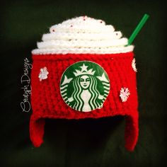 Starbucks Red Holiday cup inspired beanie! @CreatyphDesigns @Facebook @Etsy @Instagram    https://www.etsy.com/listing/253736942/crochet-coffee-hat