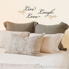 decoration with say in on the wall - Google Search
