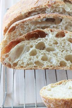 Bread without kneading in the casserole dish (basic recipe) - Bread Recipes Homemade Dinner Rolls, Cooking Bread, One Pan Meals, Easy Bread, Football Food, Baguette, Minimum, Casserole Dishes, Cooking Time
