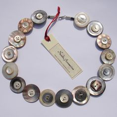 Vintage Mother of Pearl Button Necklace *1 by Nuada Accessories, via Flickr