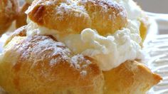 Homemade cream puffs will wow your guests, but they are so easy to make, especially if you fill them with instant vanilla pudding. The baked puff shells are a simple alchemy of milk, butter, water, salt and eggs. Presto!