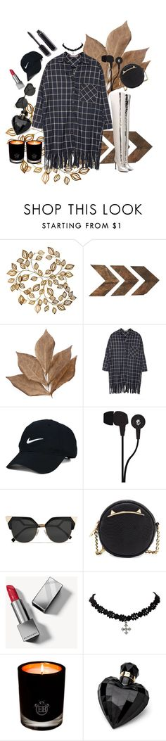 """""""black n silver"""" by ankita-jha ❤ liked on Polyvore featuring WALL, Bliss Studio, Nike Golf, Skullcandy, Fendi, Betsey Johnson, Burberry, EB Florals, Lipsy and Chanel"""
