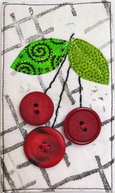 "Cherries Jubilee (3"" x 5"") by Darra Williamson | See How We Sew"