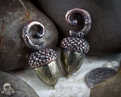 acorn ear weights, adorable!  i would stretch my ears for these.