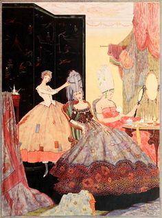 Illustration by Harry Clarke from Fairy tales of Charles Perrault. 1922. Cinderella or The Little Glass Slipper