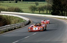 Spa 1973 - Redman leads Ickx in their Ferraris. The Belgian legend set an average speed of 163mph during practice around the daunting old street circuit.