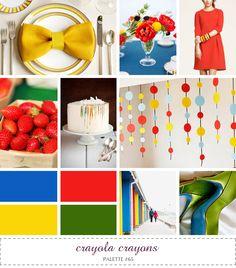 {Inspiration} Color board, bright primary colors