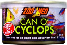 Zoo Med's Can O' Cyclops. Best food for all small size aquarium fish!