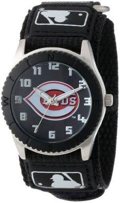 "Game Time Unisex MLB-ROB-CIN ""Rookie Black"" Watch - Cincinnati Reds"