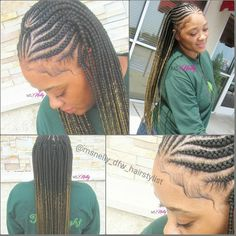 Tribal braids, feeder braids, small feeders, box braids