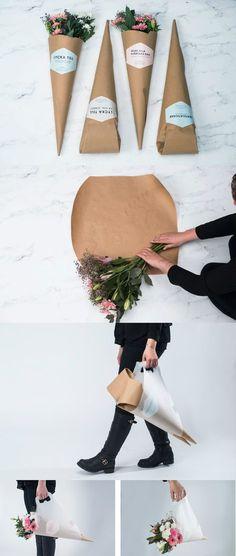 Ideas For Flowers Shop Packaging Bouquet Wrap Flower Truck, Flower Farm, Flower Packaging, Gift Packaging, Packaging Ideas, Design Packaging, Flower Shop Design, Flower Designs, Logo Fleur