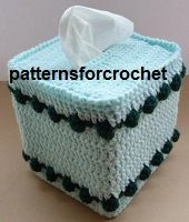 Centre Piece & Tissue Box Cover FREE Crochet Pattern from www.patternsforcrochet.co.uk easy to follow design.