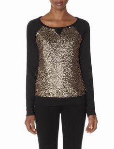 Sequin Sweatshirt | Women's Tops | THE LIMITED