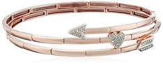 18k Rose Gold over Sterling Silver Diamond Arrow Through the Heart Flex Bangle Bracelet (1/5cttw, I-J Color, I2-I3 Clarity) Amazon Collection http://www.amazon.com/dp/B0179QV8IU/ref=cm_sw_r_pi_dp_m-RIwb077YPBQ