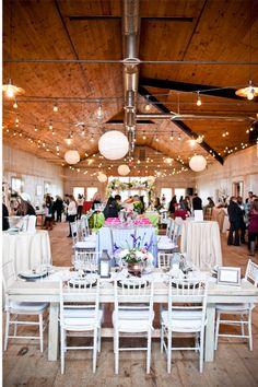 Paper Lanterns At Martha Clara Vineyards Wedding Brunch Reception Long Tables