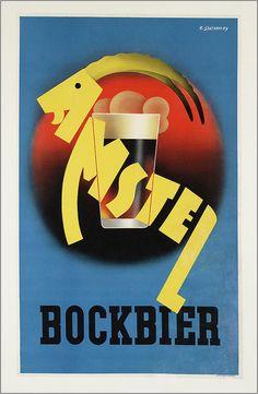 Amstel Bockbier Maker:       opdrachtgever/adverteerder:   Amstel     ontwerper/artdirector:   Szathmàry, Z.     drukker:   Luii & Co, Kunstdr., Amsterdam  Trefwoord:       alcohol     bier  Verv.jaar: 1930-1945