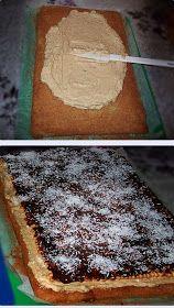 diana's cakes love: Prajitura cu crema de ness si nuca Delicious Desserts, Dessert Recipes, Romanian Food, Sweet Cakes, Low Carb Diet, Nutella, Caramel, Good Food, Food And Drink