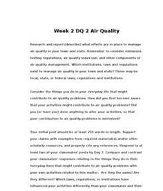 POL310  POL 310  Week 2 DQ 2 Air Quality --> http://www.scribd.com/doc/133944855/POL310-POL-310-Week-2-DQ-2-Air-Quality