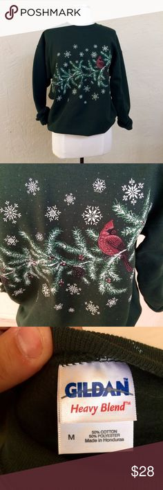 Vintage 1990s green holiday sweat shirt Vintage 1990s green holiday sweat shirt. Great condition. Labeled a traditional unisex size M. Vintage Tops Sweatshirts & Hoodies
