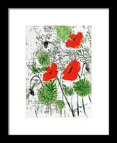 "Buy Red Poppies  Contemporary art - Acrylic on canvas board 5""x 7"", Acrylic painting by Art by Aashaa on Artfinder. Discover thousands of other original paintings, prints, sculptures and photography from independent artists."