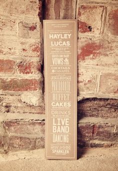kraft paper sign with white typography. photo by devlin photos; styled by luellas boudoir. #wedding #kraft #paper