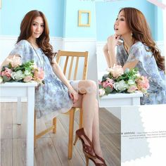 http://www.paccony.com/product/Asian-Billowing-Sleeve-Donna-Dignified-Floral-Chiffon-Summer-Season-Dresses-24531.html