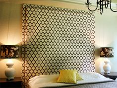 large wall mounted headboard - Google Search