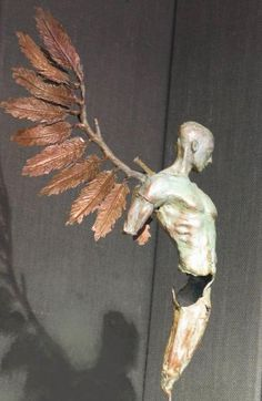 Philip Wakeham Sculptor Winged man in Bronze by philip wakeham Sculpture Projects, Art Sculpture, Illusion Kunst, Desenho Tattoo, Wow Art, Ceramic Art, Metal Art, Art Dolls, Fantasy Art