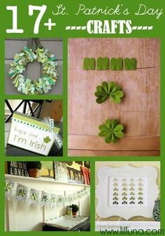 17+ St. Patrick's Day Craft Ideas on { lilluna.com }