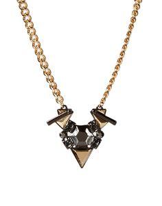 ASOS jeweled shard necklace