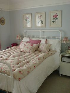 This room is an example of comfy because of the bedspread.