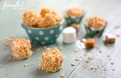 marshmallow caramel rice krispies puffs - www.afarmgirlsdabbles.com