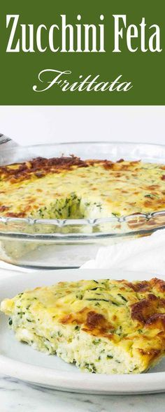 Put your extra zucchini to good use in this hearty frittata! It's full of shredded zucchini, potato, feta, and Monterey jack cheese. Vegetarian and gluten-free!