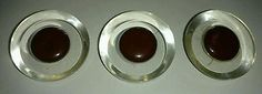 """3 Buttons Lucite Brown Bakelite Large Vtg Metal Shank 1.75"""" Simichrome Tested"""