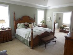 Sherwin Williams Svelte Sage (a gorgeous paint color that compliments cherry or oak wood)