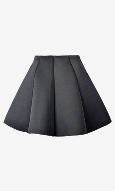 Mini Skirt with Structured Pleats