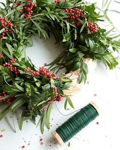 Let's Make A Simple Holiday Wreath! - http://www.sweetpaulmag.com/crafts/lets-make-a-simple-holiday-wreath #sweetpaul