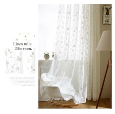 Korean White Embroidered Voile Curtains Linen White Sheer Curtains for Living Room Kitchen Bedroom Tulle Window Curtains/Panels-in Curtains from Home & Garden on Aliexpress.com | Alibaba Group