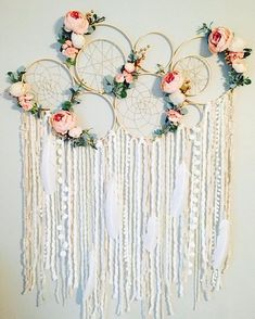 Dreamcatcher Wall Hanging Dreamcatcher Wall Decor They are done, our KEYCHAINS I think they have become really great . - genuine finished find have been I Large Dreamcatcher Wall Hanging Floral Dream catcher Nursery Grand Dream Catcher, Large Dream Catcher, Dream Catcher Nursery, Dream Catcher Wedding, Diy Dream Catcher, Hanging Fabric, Pom Pom Garland, Pom Poms, Creation Deco