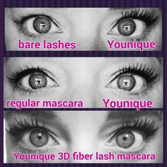 Regular Mascara VS Younique 3D Fiber Lashes! https://www.youniqueproducts.com/WendyShumate/products/view/US-1017-00#.U9z0hKi0a-s