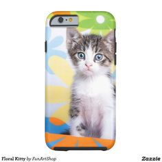 Floral Kitty Tough iPhone 6 Case