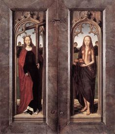 Triptych of Adriaan Reins closed - Memling Hans