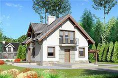Projekt domu Eklerka - murowana – beton komórkowy 74,20 m² - koszt budowy - EXTRADOM 20 M2, Home Fashion, Dom, Shed, Outdoor Structures, Cabin, House Styles, Home Decor, Decoration Home