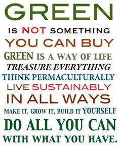 rules of green #livegreener